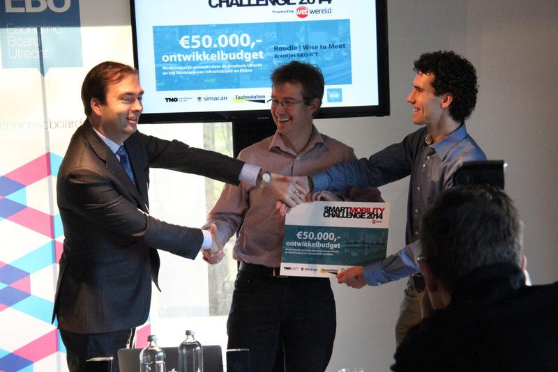 Gedputeerde Van Lunteren feliciteert winnaars Smart Mobility Challeneg 2014